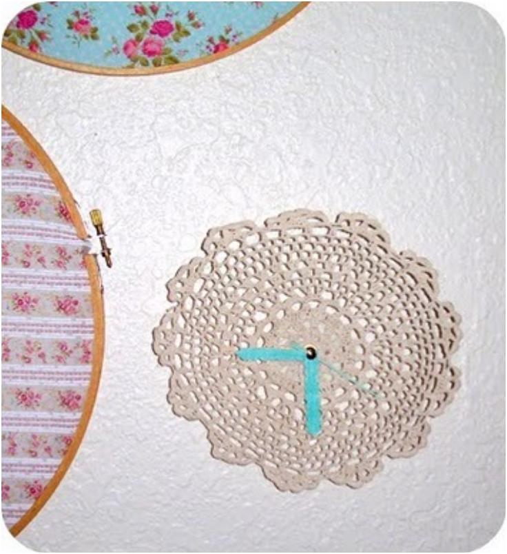 DIY-Tutorial-Crochet-Doily-Turned-to-a-Wall-Clock