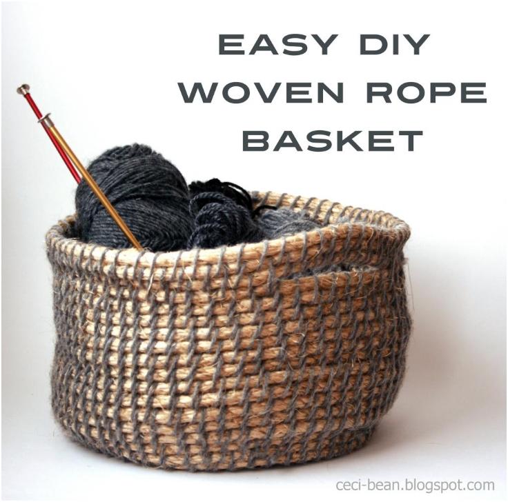 DIY-Woven-Rope-Basket