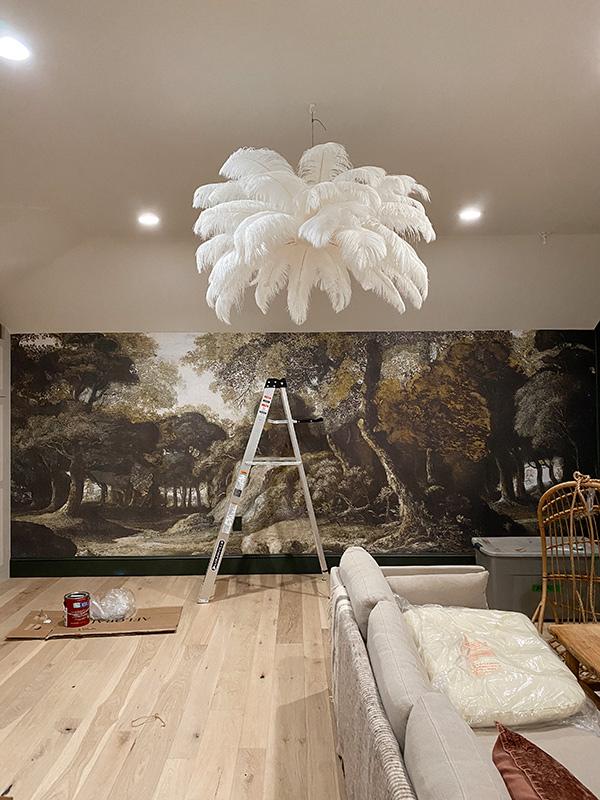 DIY-feather-chandelier-
