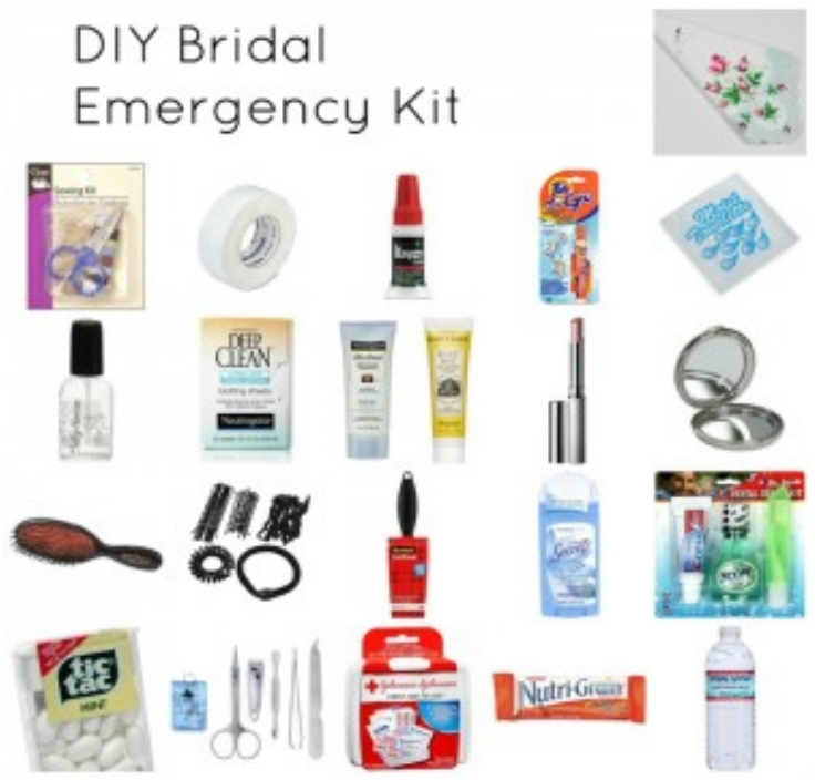 Day of Wedding Bridal Emergency Kit- DIY