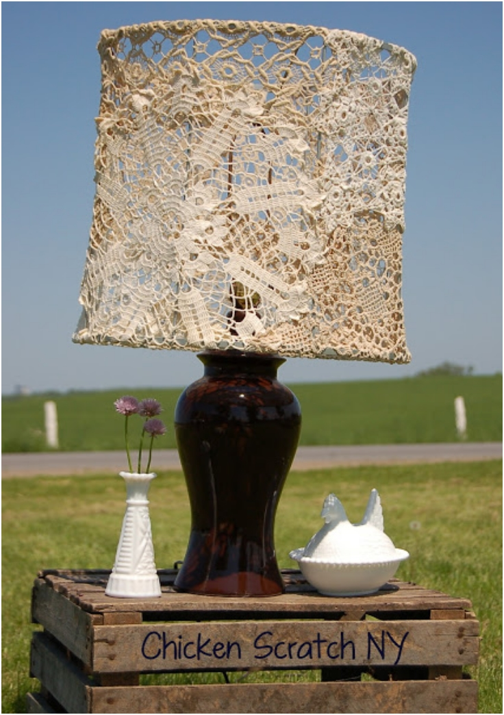 Doily-Covered-Lampshade