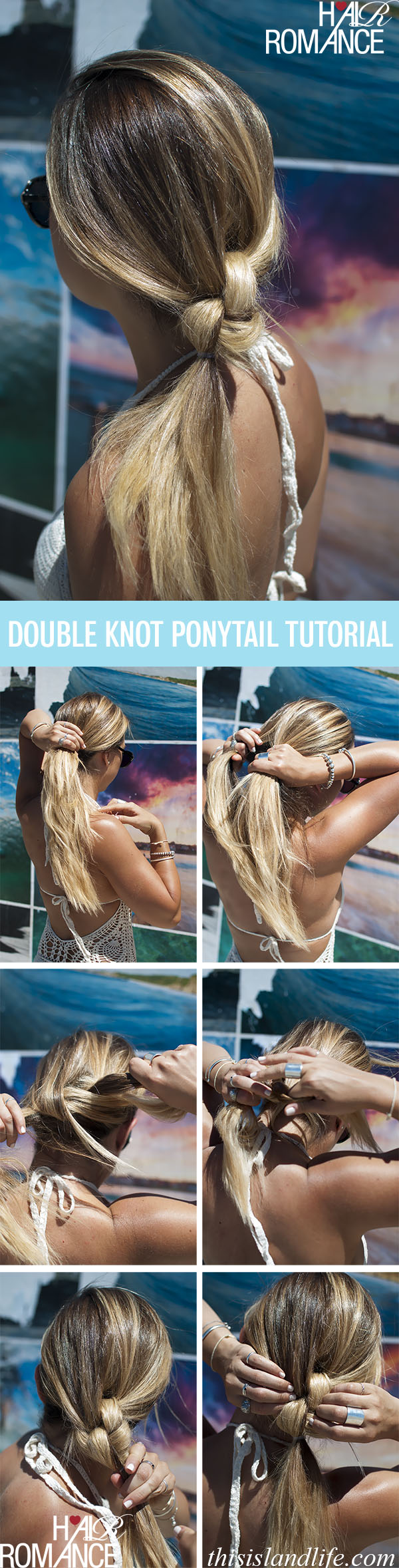 Double-knot-ponytail-hairstyle-tutorial
