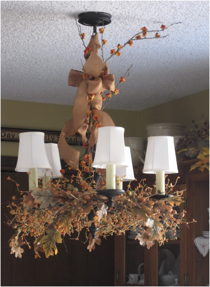 Top 10 DIY Fall Chandelier Decorations Inspired