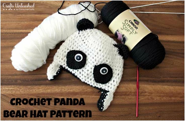 Free-Crochet-Patterns-Panda-Bear-Hat