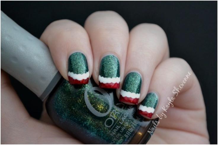 Top 10 elegant diy christmas nail art top inspired top 10 elegant diy christmas nail art prinsesfo Images