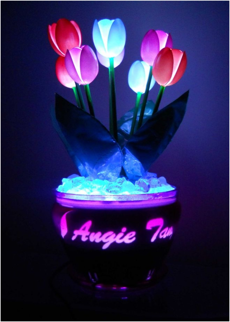 Glowing-Plastic-Spoon-Tulips
