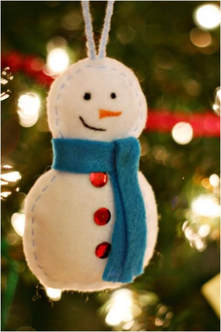 Handmade-Snowman-Ornament