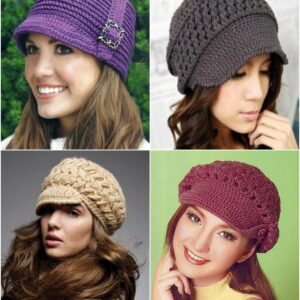 Top 10 Fashionable DIY Hats And Caps (Free Crocheting Patterns)   Top Inspired