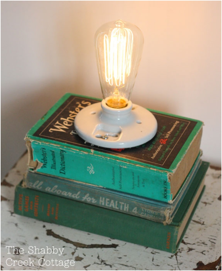 How-to-make-a-book-lamp
