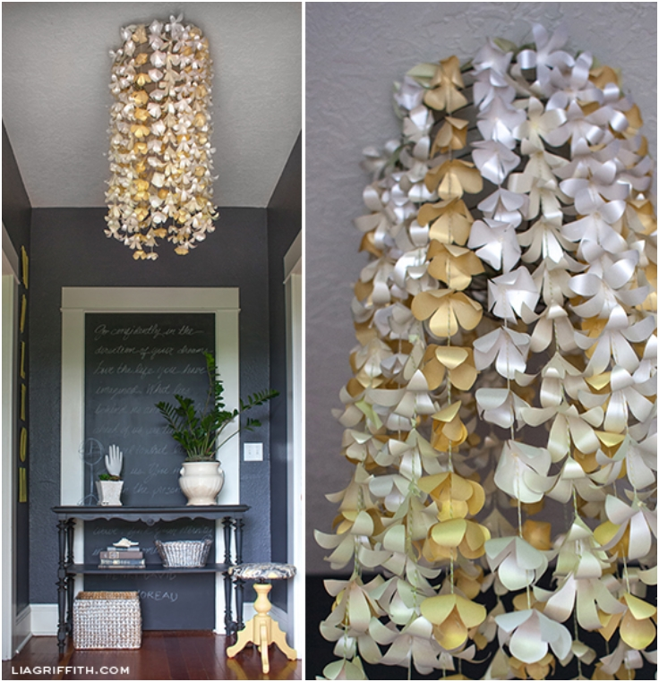 Top 10 diy fall chandelier decorations top inspired for Homemade fall decorations for home