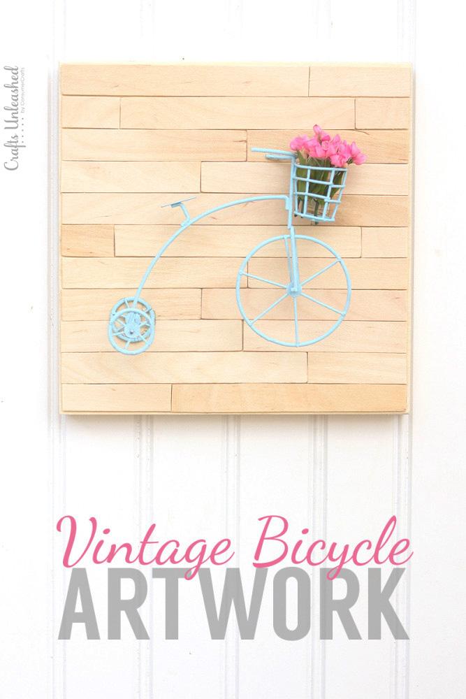 Mini-vintage-bicycle-DIY-wall-art-Crafts-Unleashed-1