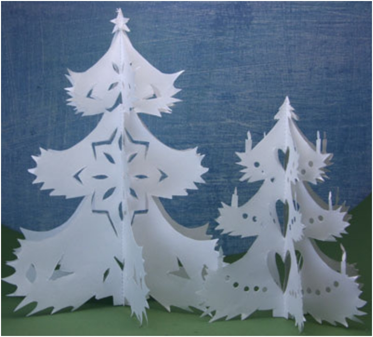 Miniature-Cut-Out-Paper-Trees-For-Seasonal-Decorations