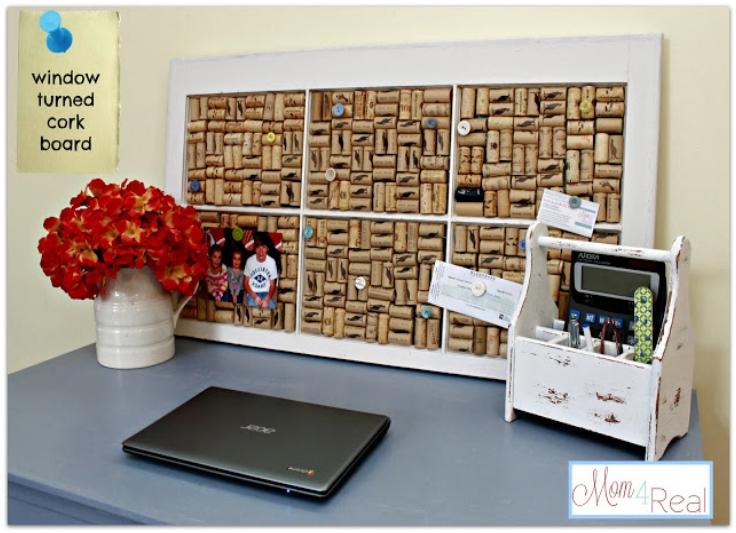 Old-Window-Turned-Wine-Cork-Board