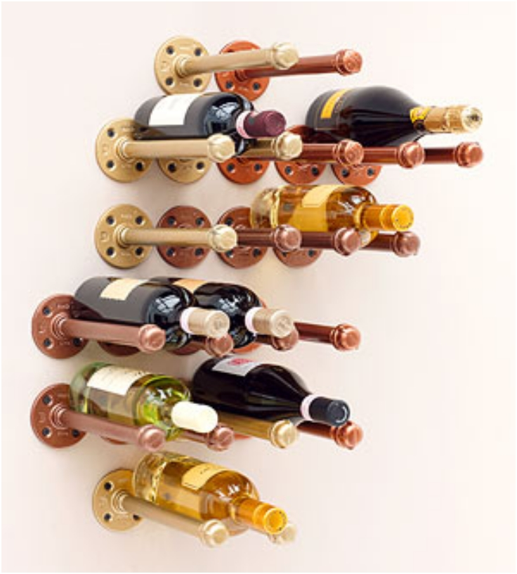 Pipes And Paint Wine Rack