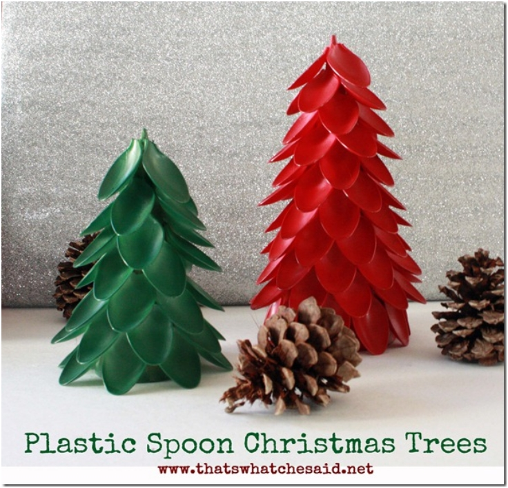 Plastic-Spoon-Christmas-Trees
