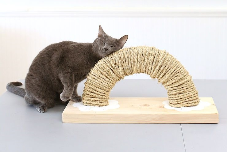 Rainbow-DIY-Cat-Scratching-Post-With-Free-Printable-Plans