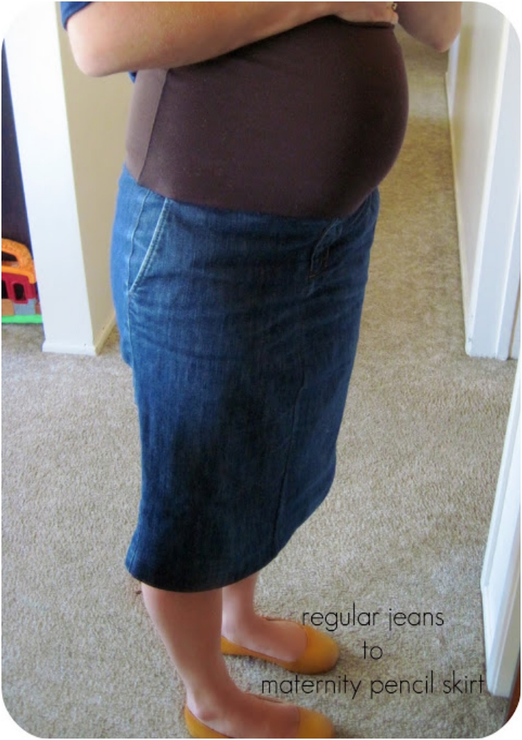Refashioned-Jeans-to-Maternity-Skirt-Tutorial