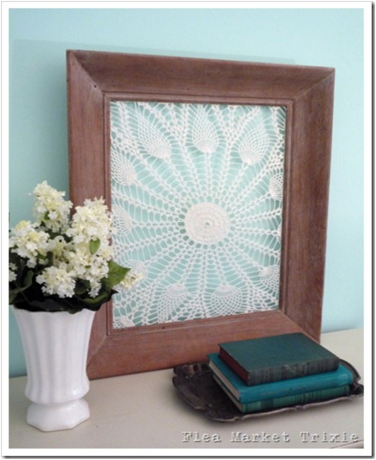Repurposed-Vintage-Doilies-and-Frames