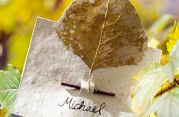 Top 10 Lovely DIY Place Cards for a Thanksgiving Table | Top Inspired