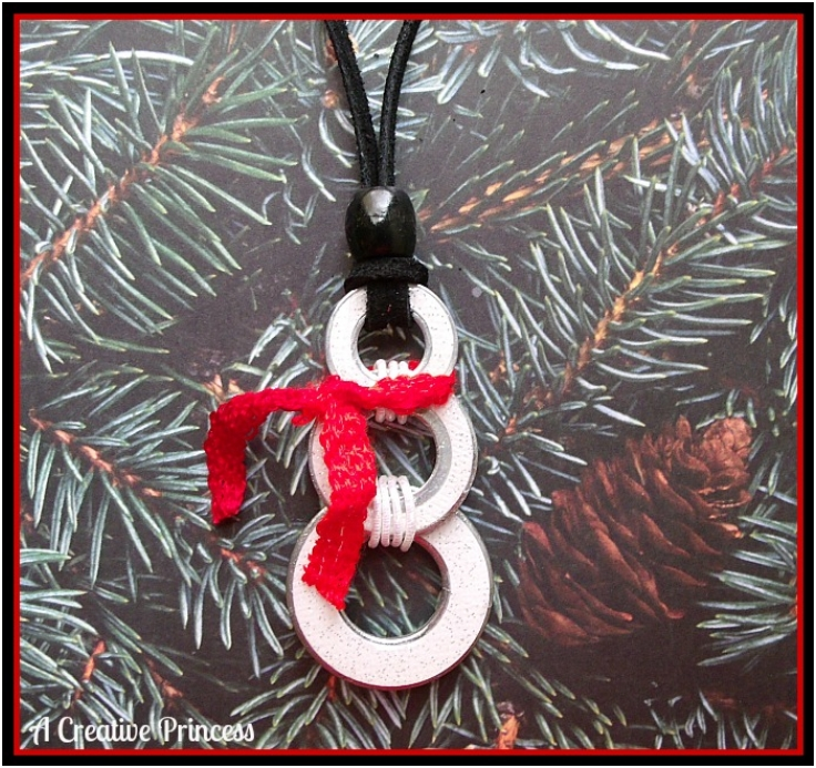 Snowman-Washer-Necklace