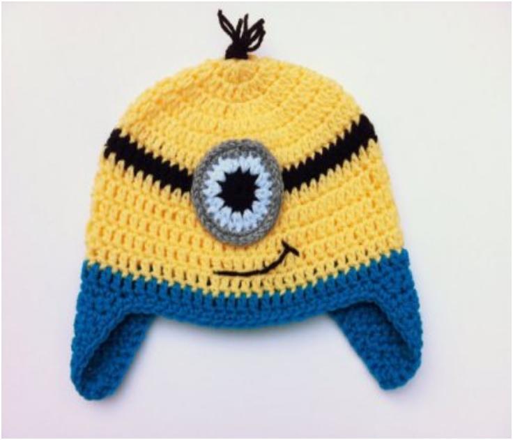 TUTORIAL-Crochet-Minion-Hat