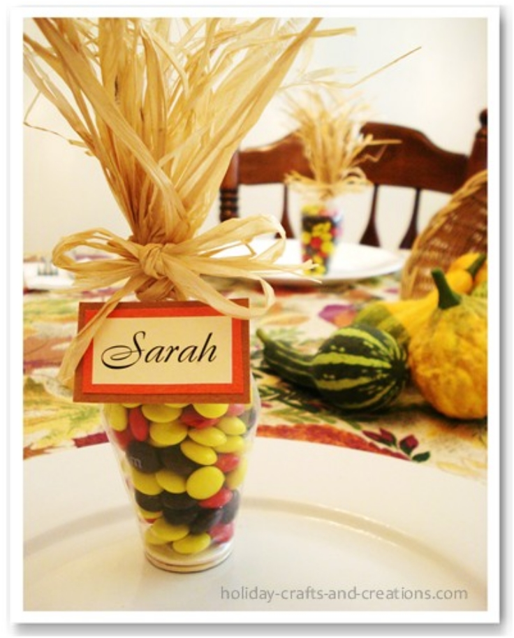 Top 10 fun and fancy thanksgiving place cards top inspired for Place settings name card holders
