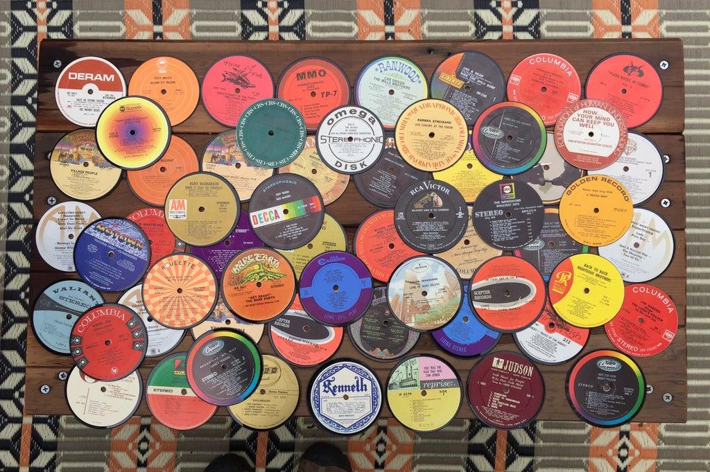 Vinyl-coaster