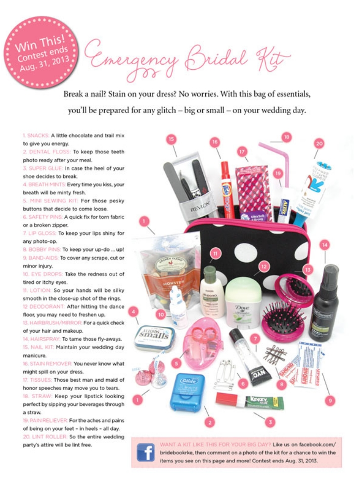 Top 10 DIY Wedding Day Emergency Kits