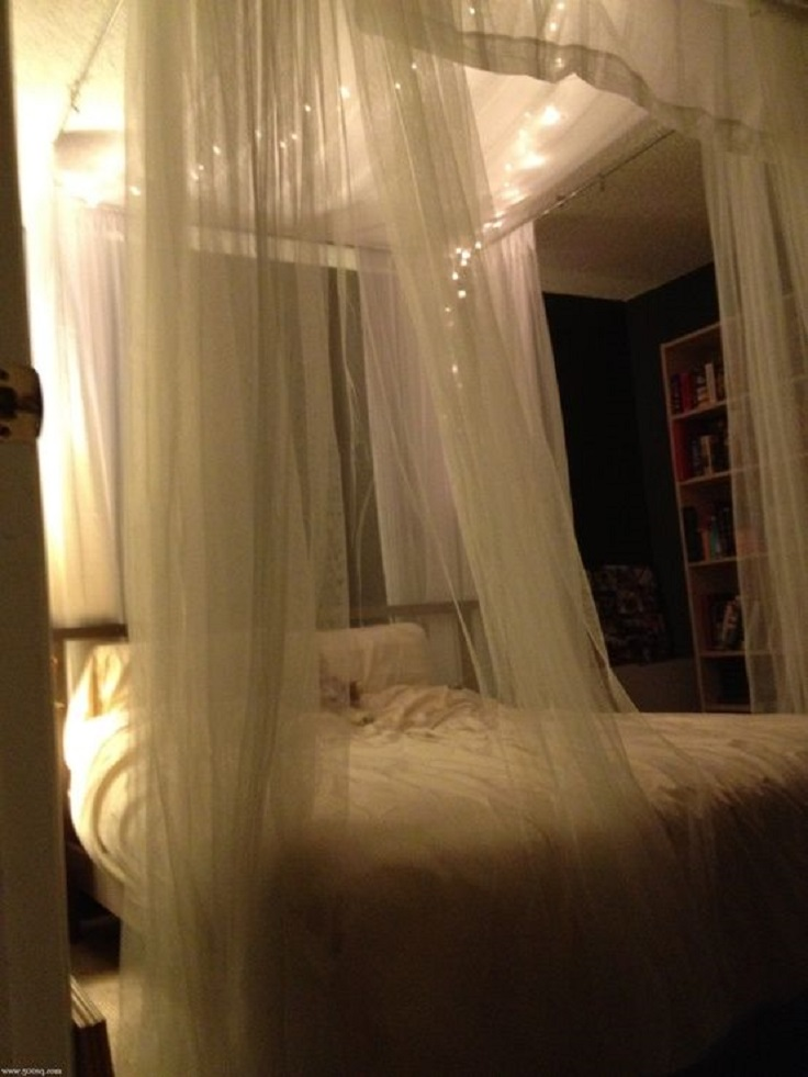 Top 10 romantic bedroom ideas for anniversary celebration - Ideas for canopy bed curtains ...