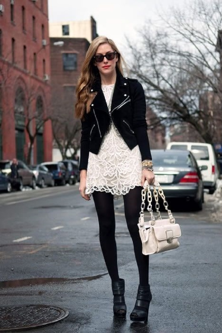 Top 10 White Lace Dress Combinations