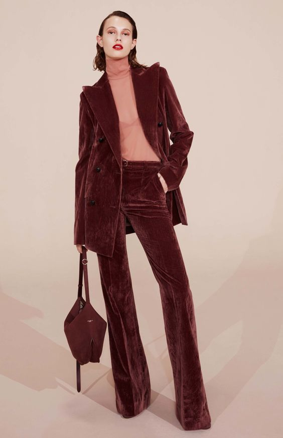 burgundy-two-piece-suit-
