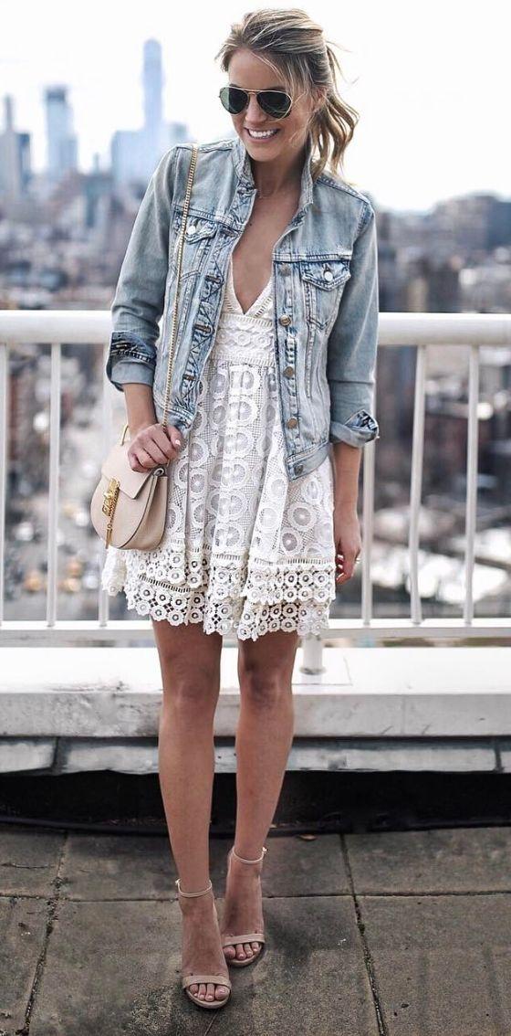 denim-jacket-lace-dress-