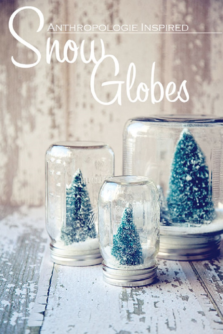Top 10 DIY Christmas Snow Globes - Top Inspired