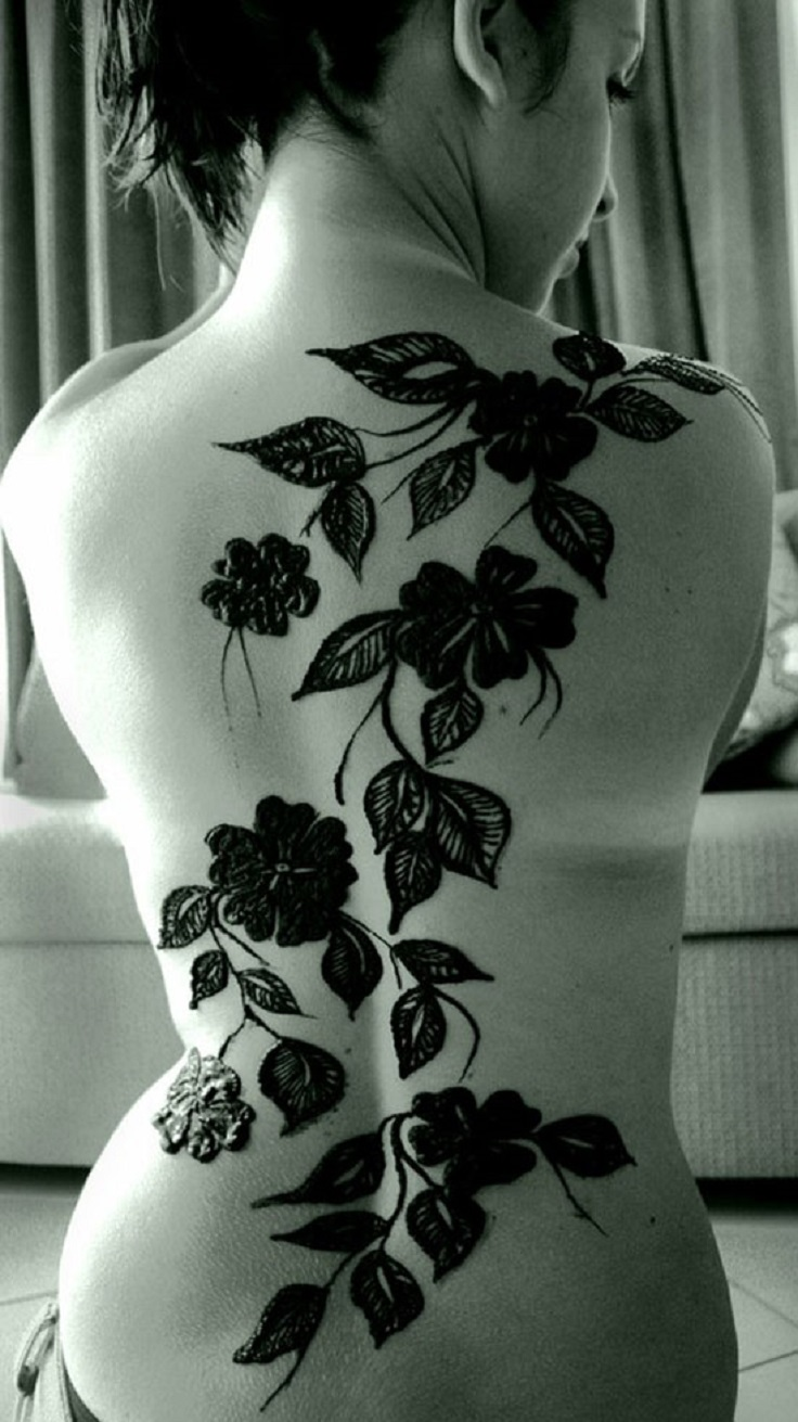 Henna Tattoo Full Back: Top 10 Great Temporary Henna Tattoos