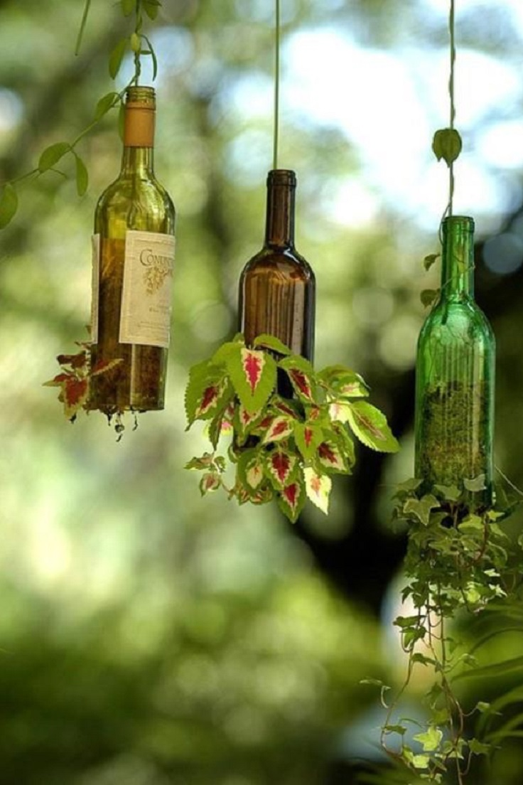 Top 10 Ways To Reuse Glass Bottles | Top Inspired