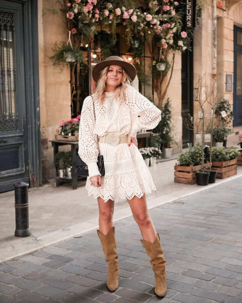 lace-dress-with-cowboy-boots-and-hat--819x1024