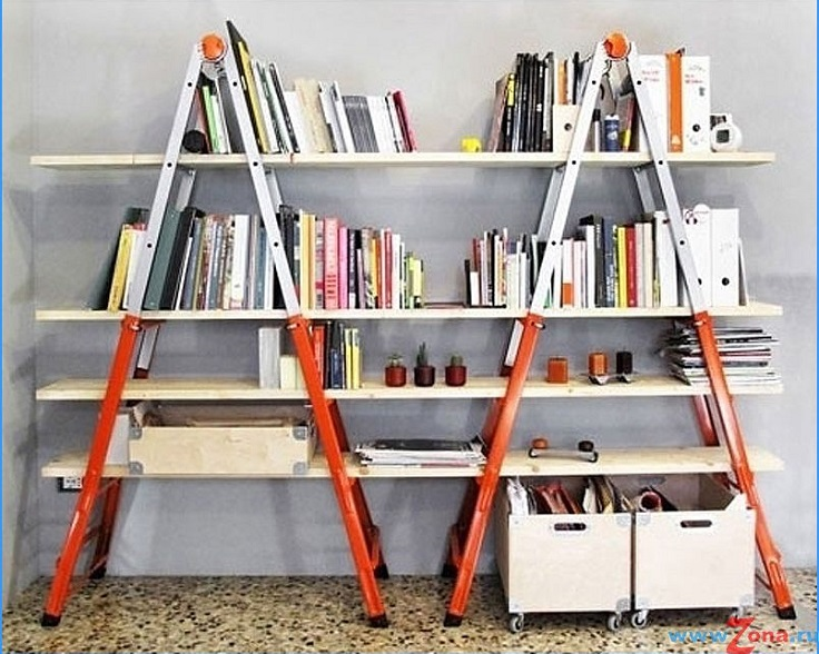 Top 10 unique diy bookshelf projects top inspired for Ladder project