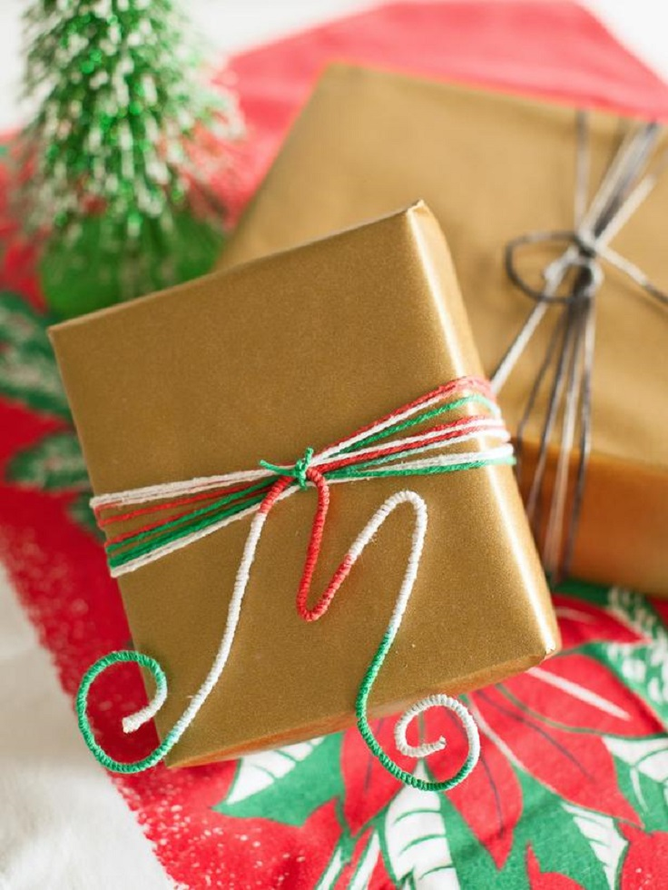 Top 10 diy christmas gift wrapping ideas top inspired for Creative christmas ideas