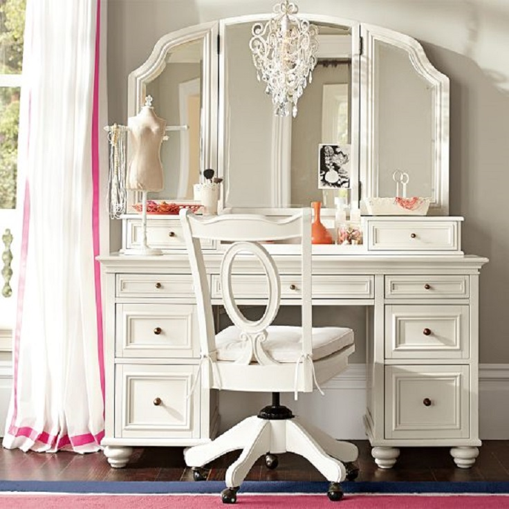 Top 10 amazing makeup vanity ideas top inspired for White makeup dresser