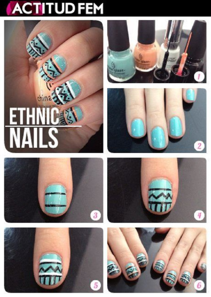 Diy nail art tribal nail art diy how to get tribal print nails diy tribal nails images view images prinsesfo Image collections