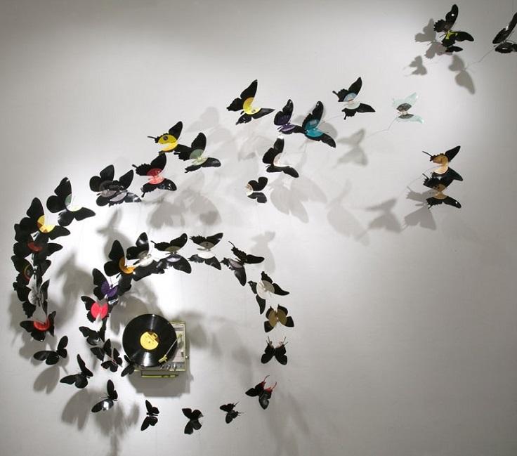 Diy Vinyl Record Wall Art : Top diy unique vinyl records recycle inspired