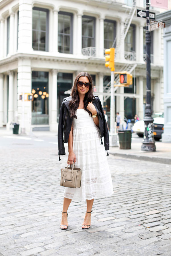 white-lace-dress-and-black-leather-jacket-