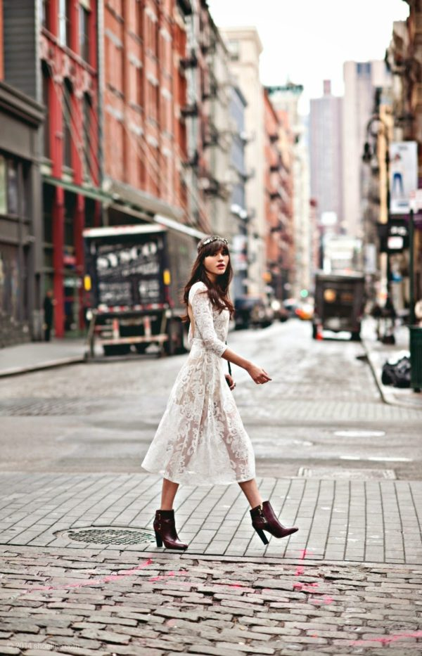 white-lace-dress-with-ankle-booties