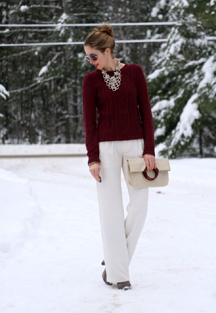 Top 10 Ways To Wear Burgundy Color In Winter - Top Inspired