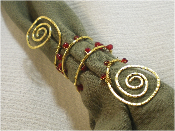 Bead-Wire-Napkin-Rings