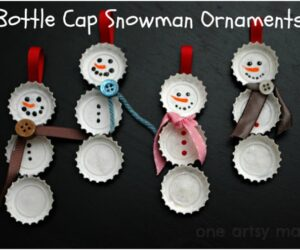 Top 10 Upcycled Bottle Cap DIY Christmas Ornaments