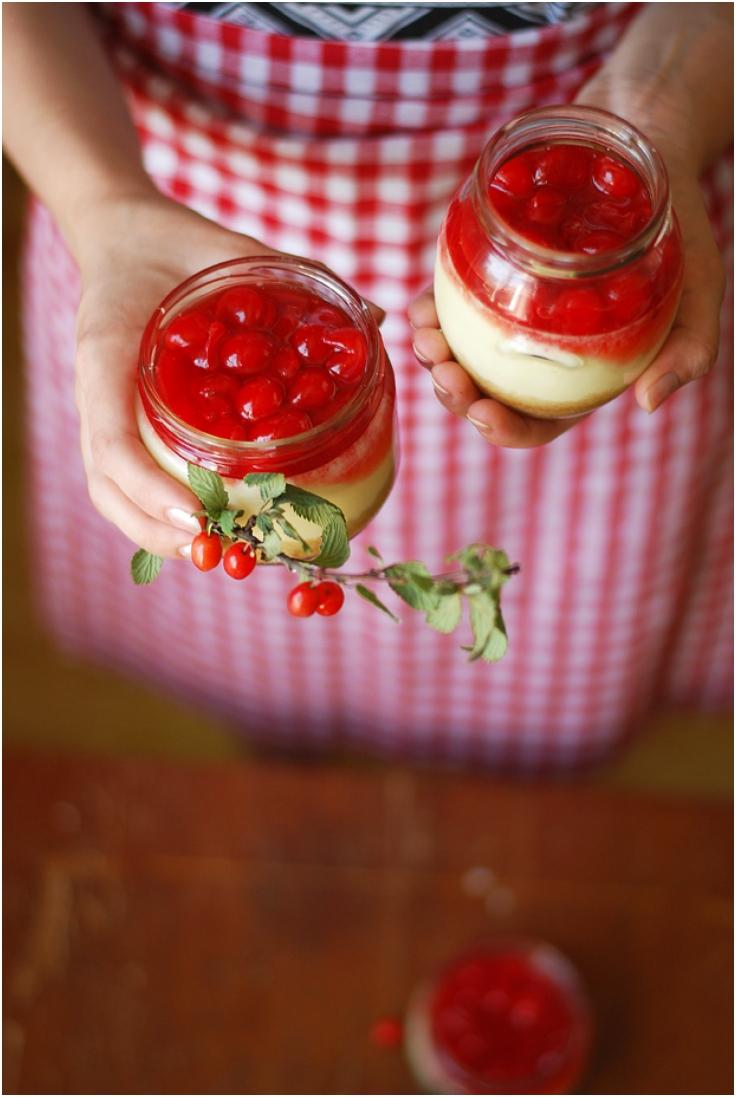 Cherry-Cheesecake-in-a-Jar