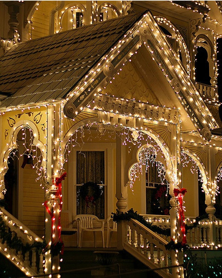 Porch Christmas Lights