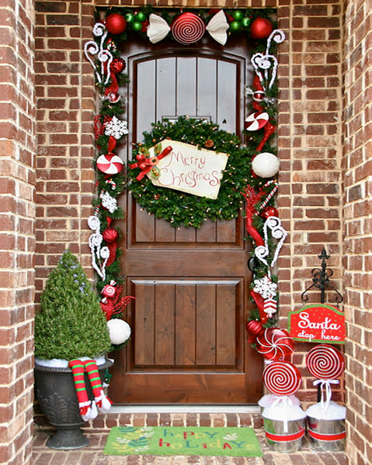 Top 10 Inspirational Christmas Front Porch Decorations ...