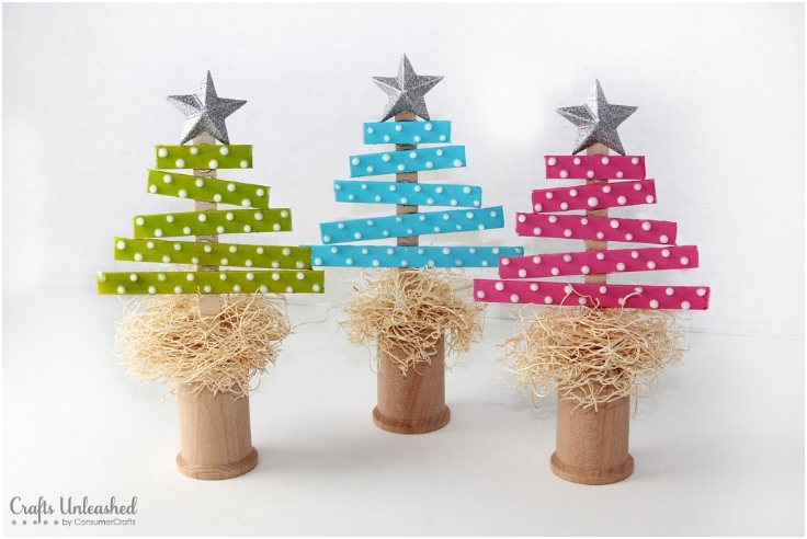 Craft-Stick-Christmas-Trees